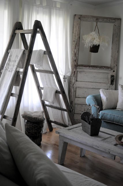 Vintage Ladder eclectic-family-room