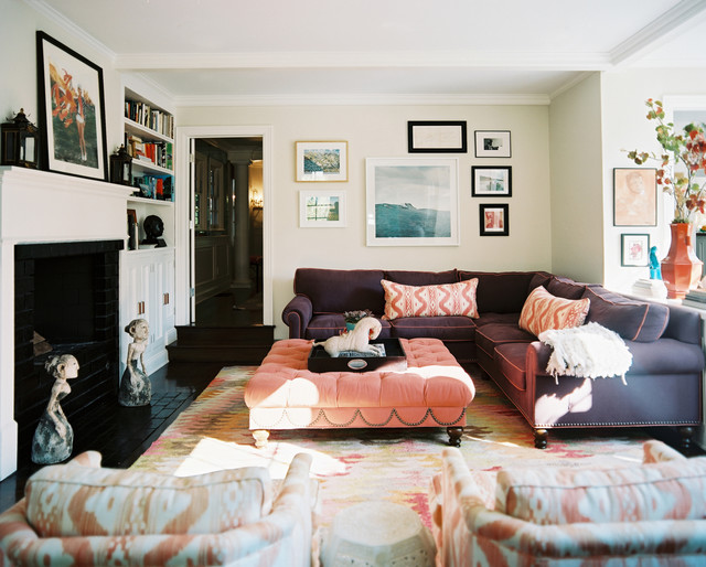eclectic family room by Hillary Thomas Designs