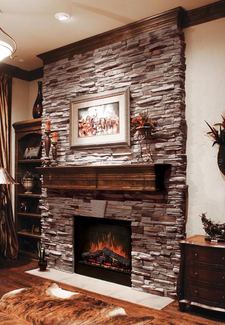 Virginia Ledgestone Fireplace - Coronado Ledgestone - Traditional ...