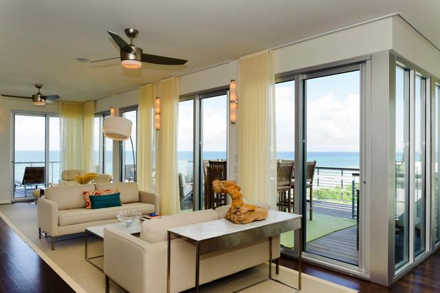 Viridian Beach House  Seagrove, Florida modern-family-room