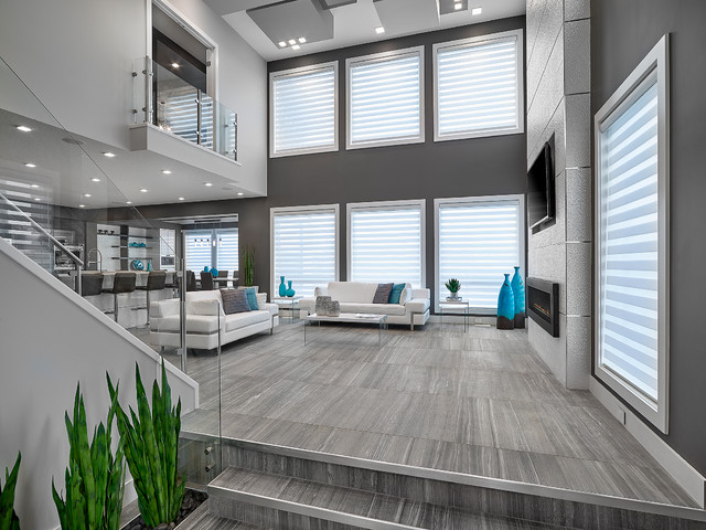 Vittorio Showhome Contemporary Family Room Edmonton By Vicky S Homes