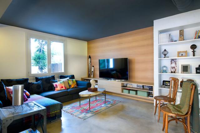 Vivienda en benicassim mediterr neo sala de estar for Sala de estar estilo mediterraneo