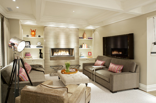 The fireplace makes a stunning focal point. I'm curious as to what ...