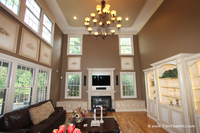 Wainscot and Picture Frames traditional-family-room