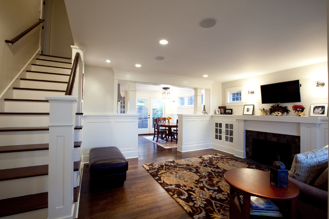 Wainscoting transitional family room seattle by for Living room wainscoting ideas