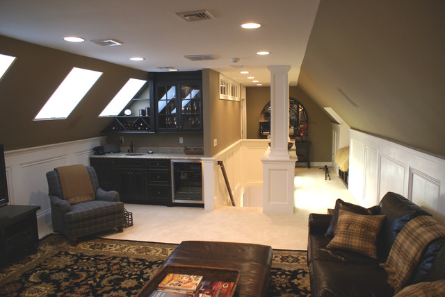 Walk Up Finished Attic E In New Jersey Contemporary Family