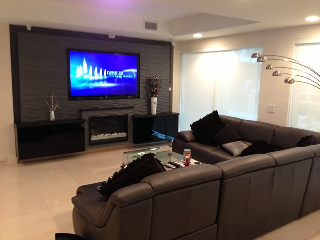 Wall Units contemporary-home-theater