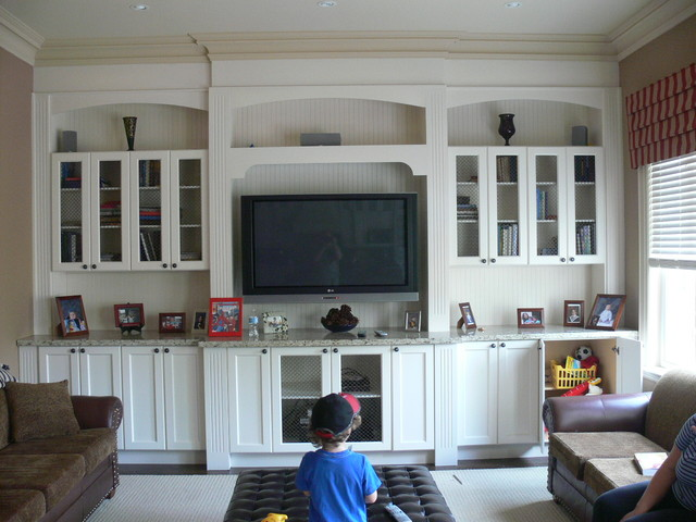Wall Units Traditional Family Room
