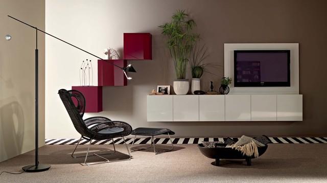 .Wall Units contemporary-family-room