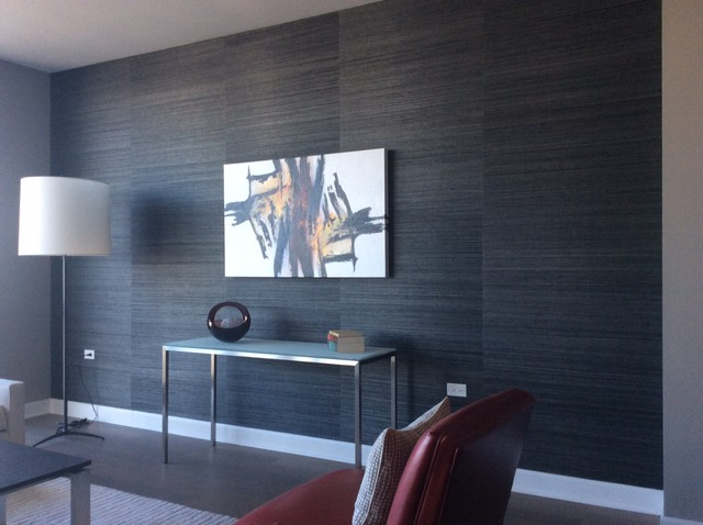Wallcovering Examples Modern Family Room Other By