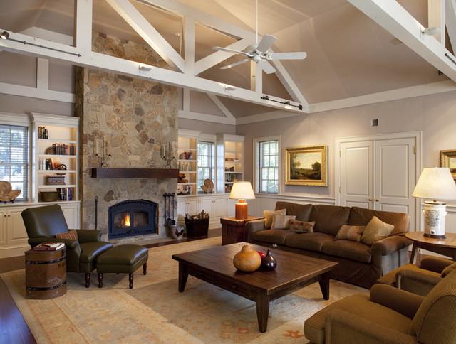 Walnut Hill Ranch - Family Room traditional-family-room