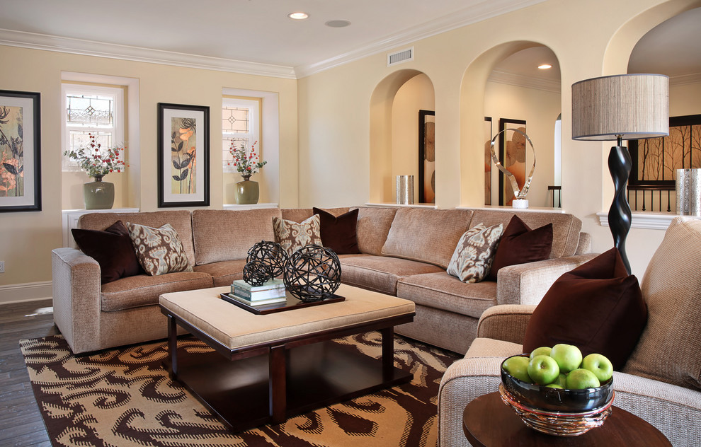 Example of a trendy family room design in Orange County