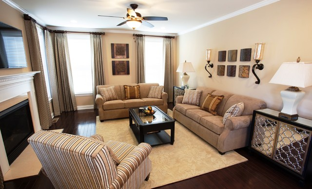 Warm neutral palette living spaces in haymarket for Warm neutral living room