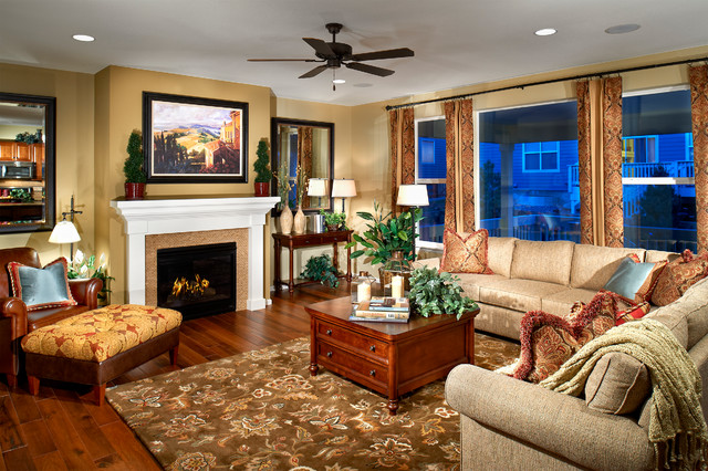 Watercolor traditional-family-room
