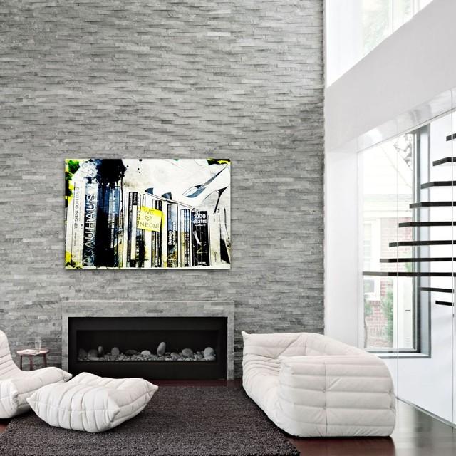 We love Neon Fine Art modern-family-room