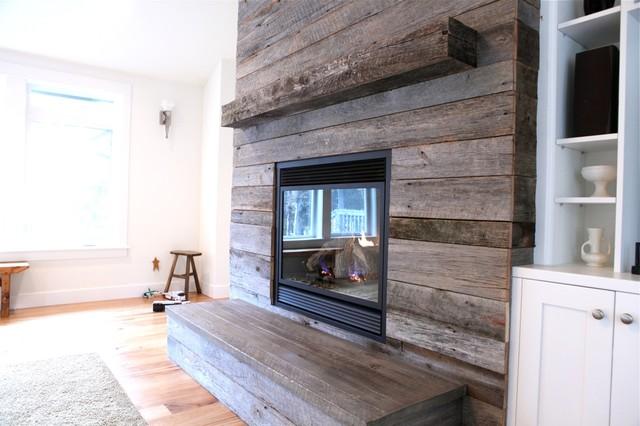Weathered Oak Family Room Portland By Barnwood