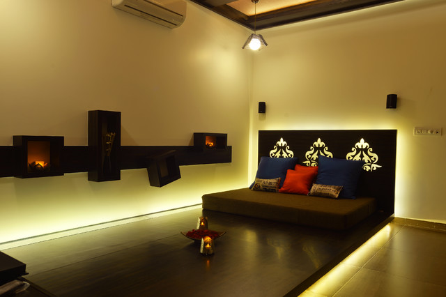 Weekend  Villa Interior For Kevalam Valley Resourts contemporary-family-room