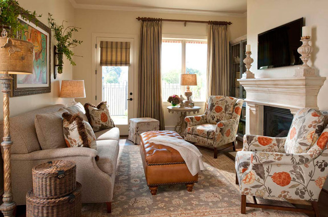 Wesley wayne interiors family rooms beach style family room dallas by wesley wayne - Airy brown and cream living room designs inspired from outdoor colors ...