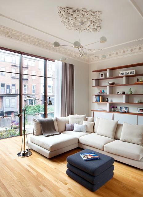 West Newton Scandinavian Family Room Boston By BUTZ KLUG Architecture