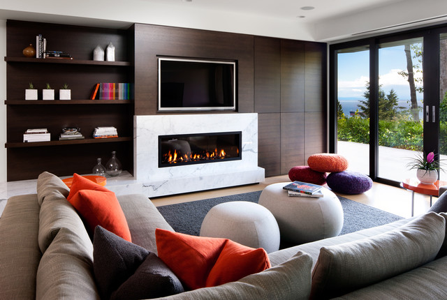 West Vancouver Residence contemporary-family-room