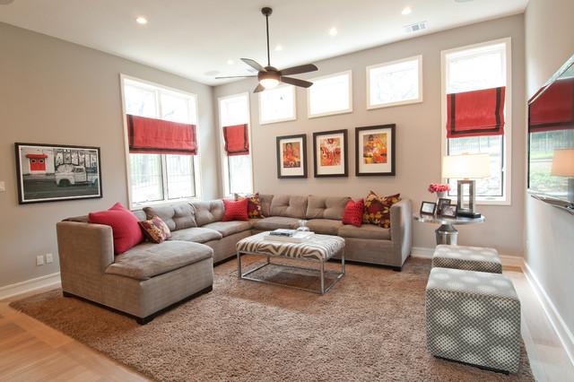 Westlake Residence modern-family-room
