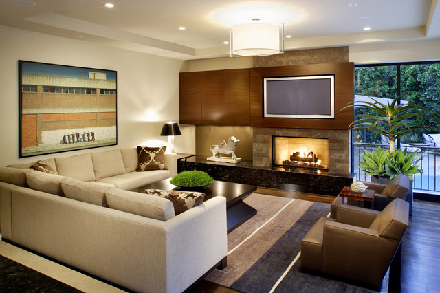 Westwood Residence - Contemporary - Family Room - Miami - by b+g ...