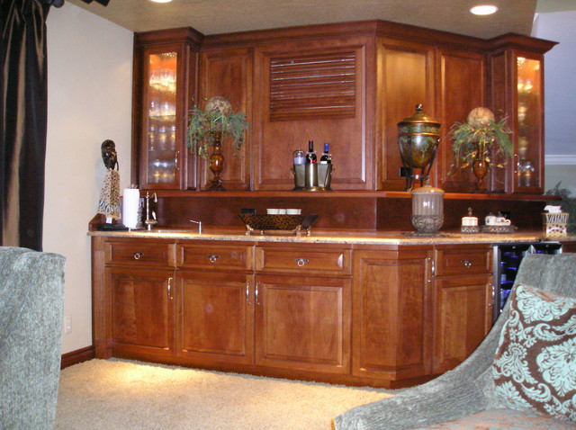 Wet Bar Traditional Family Room Other Metro By Cabinet Designs Of Central Florida
