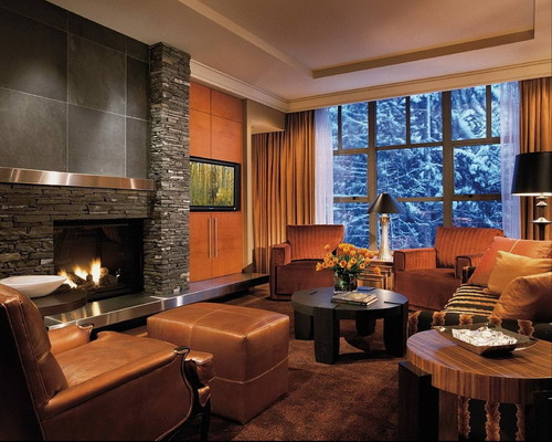 Living Rooms with Fireplace - Interior Design Ideas, Home Designs ...