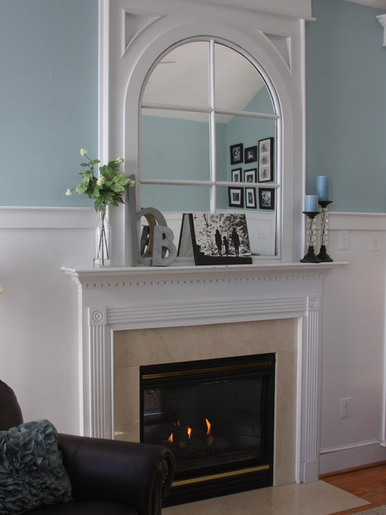 Mirror Over Mantle Home Design Ideas Pictures Remodel And Decor