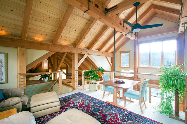 White Mountains Area Post & Beam Home contemporary-family-room