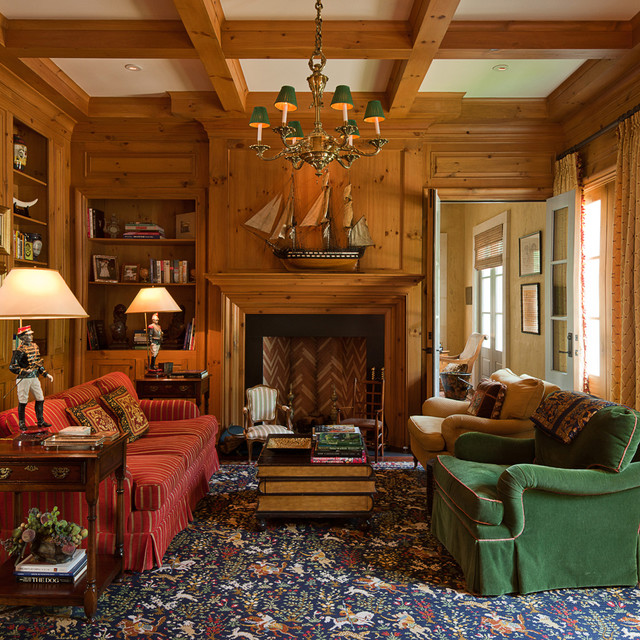William T Baker Houses Traditional Family Room