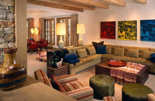 Wilson Mountain Residence rustic-family-room