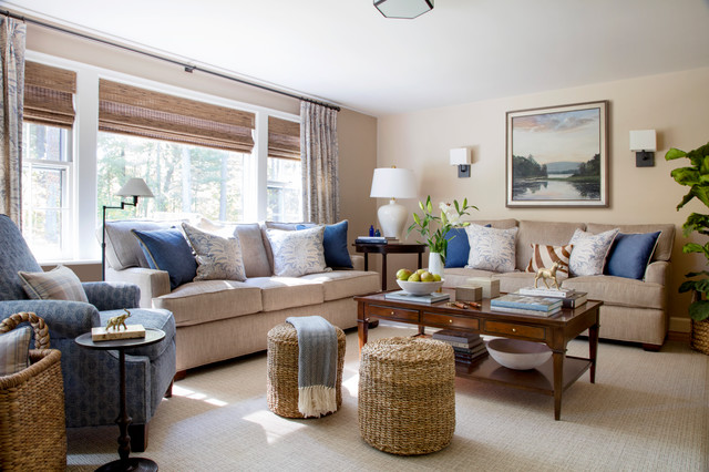 New Decor Creates A Sophisticated And Comfortable Family Room