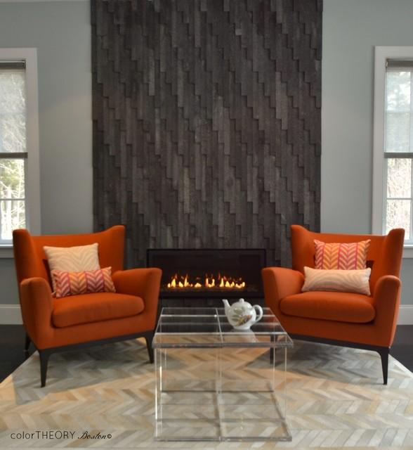 Winchester, Ma. contemporary-family-room