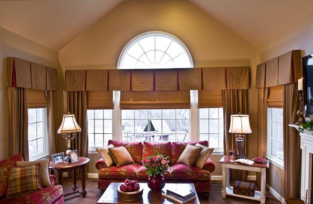 window fashion vision magazine cover traditional family room philadelphia by elegant. Black Bedroom Furniture Sets. Home Design Ideas