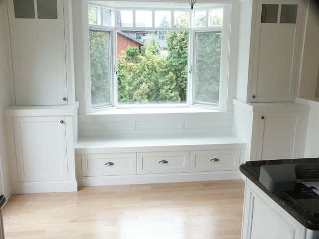 Window Seat Wall Unit Traditional Family Room