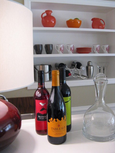 Wine Bottle Labels eclectic-family-room