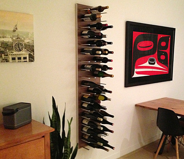 Wine Rack As A Unique Wall Divider Contemporary Family Room Vancouver By Stact Wine