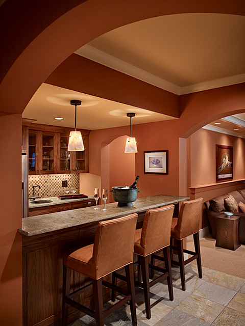 Wine Room traditional-family-room
