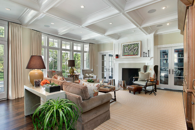 Winnetka Coastal transitional-family-room