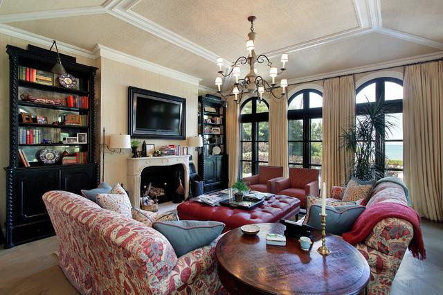 Winnetka Private Residence 1 mediterranean-family-room