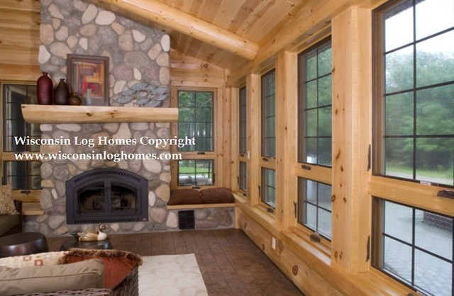 Wisconsin Log Homes Inc. traditional-family-room