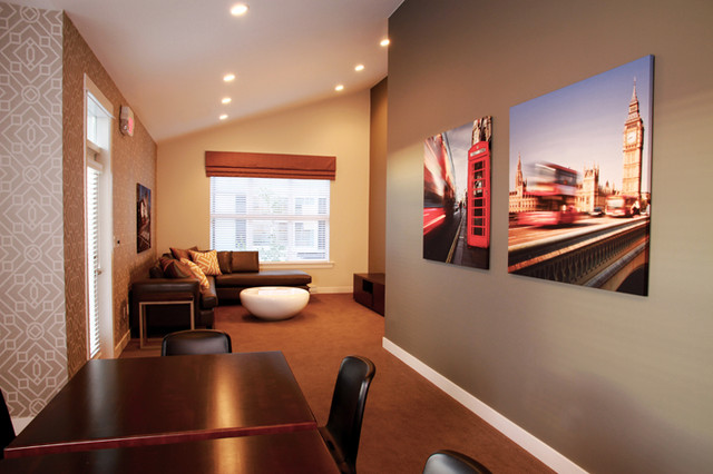 """Woodbridge Homes - """"Abbey Road"""" Show Suite contemporary-family-room"""
