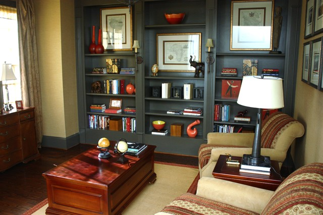 traditional family room by Liv By Design Interiors
