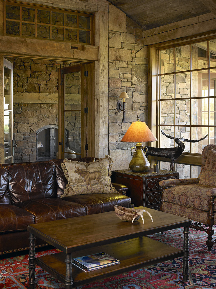 Family room - eclectic family room idea in Jackson