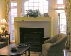 Yellow Family Room transitional-family-room