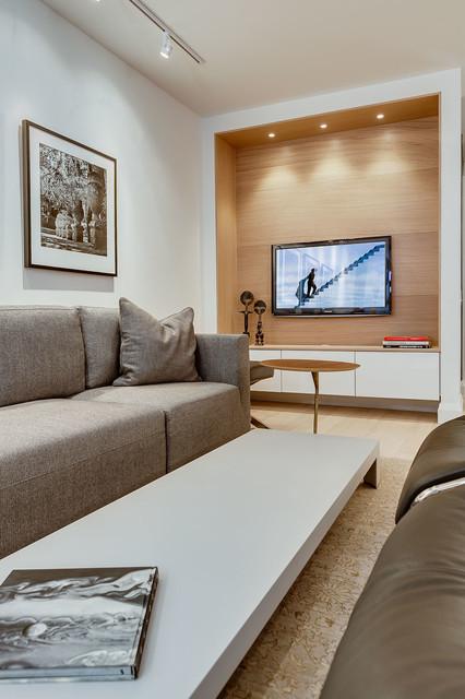 Yorkville Condo Modern Family Room Toronto By