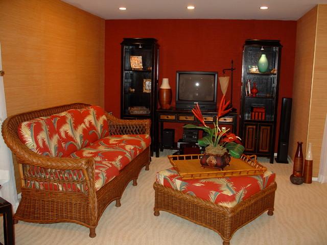 Zelia Basement Renovation tropical-family-room