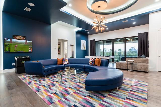 Trendy family room photo in Orlando