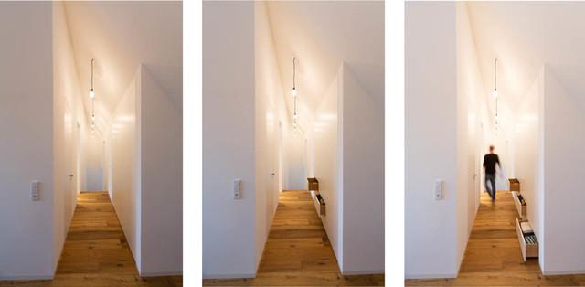 einbauschr nke fl chenb ndig modern flur frankfurt. Black Bedroom Furniture Sets. Home Design Ideas